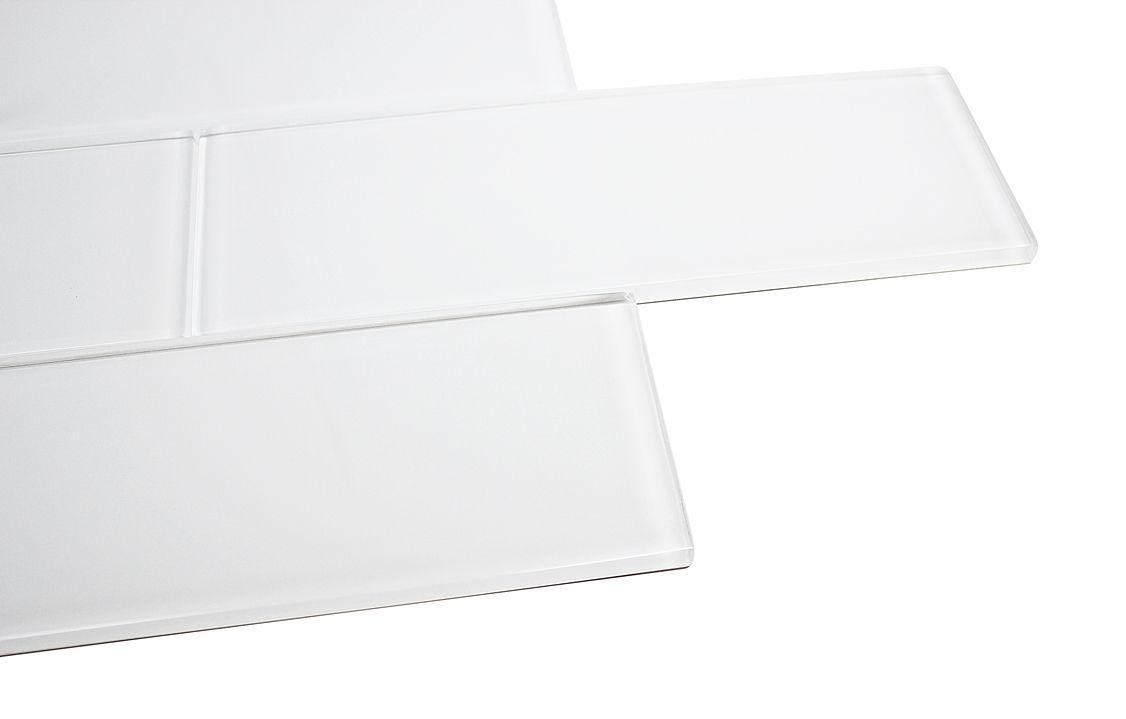 3x9 Super White Glossy Subway Tile Tumbled Marble Tile
