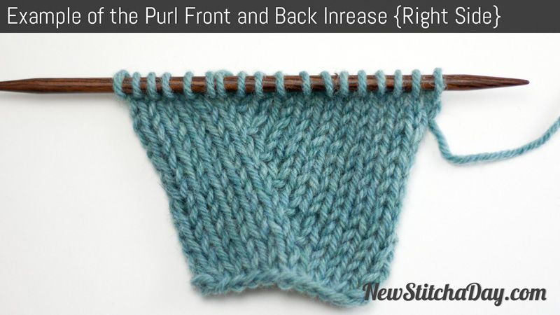 This increase is used for increasing stitches on the purl side of ...
