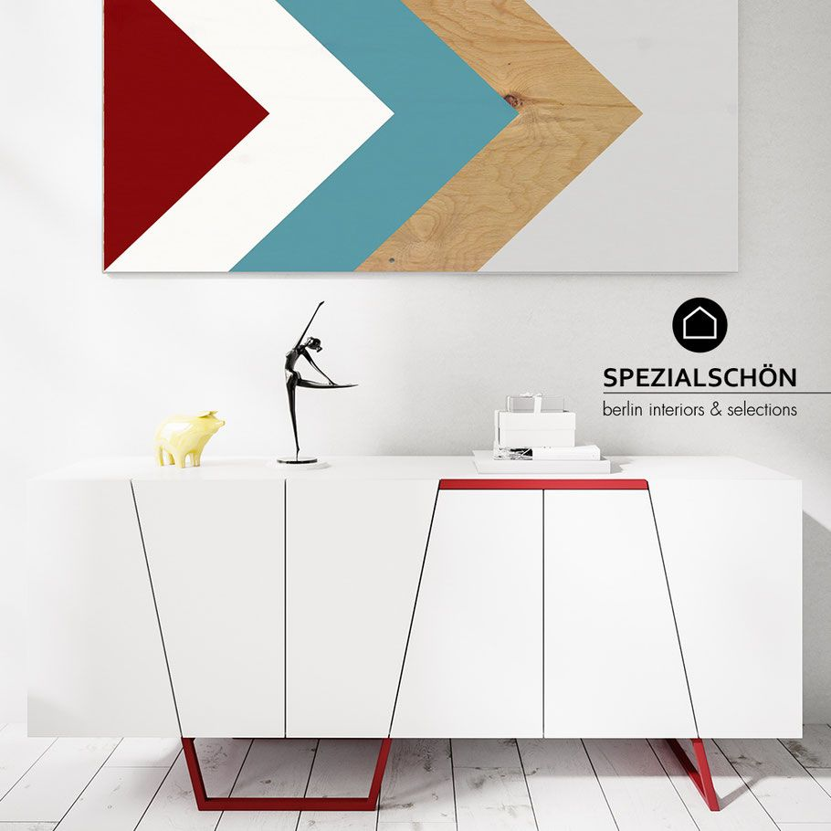 Graphic Sideboard Grafik Sideboard Chanel Blackwhite Modern