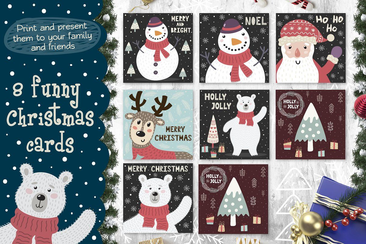 Cozy Christmas Patterns Cards Card Patterns Cozy Christmas Christmas Bundle