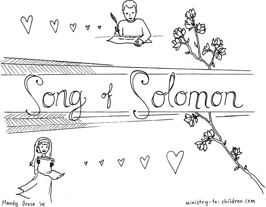 Song Of Solomon Bible Coloring Page Books Of The Bible Bible Coloring Pages Song Of Solomon