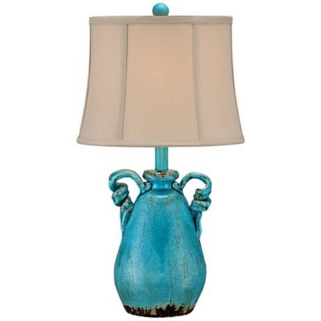 Sofia Turquoise Ceramic Table Lamp $69.99 (also in red and white ...