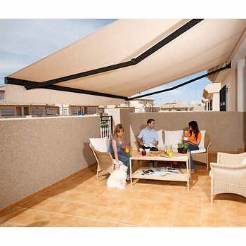 Brasilia Athena Manual And Motorized Acrylic Awnings Home Outdoor Decor Home Decor