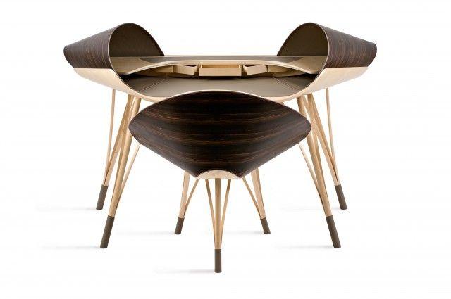 Bureau Elytre Ludovic Avenel Ebeniste Createur Mobilier De Salon Mobilier Inhabituel Fauteuil Bureau Design