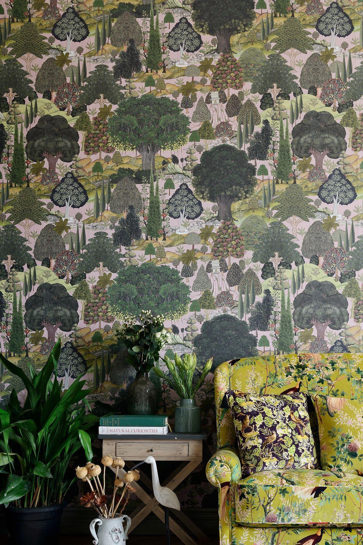 Jardin Sauvage Wallpaper Forest Wallpaper Wallpaper Botanical