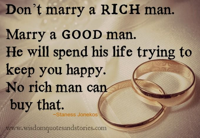 What does a rich man need