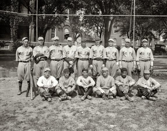 "Washington, D.C., 1923. ""D.C. Fire Department baseball team.""  @A Lifetime Legacy"
