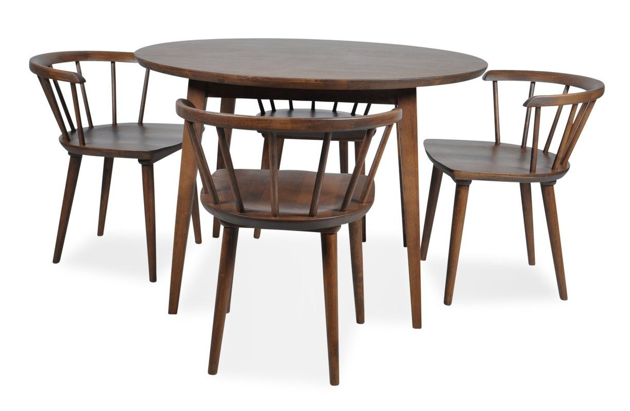 Fiona 5 Piece Dining Set | Dining, Furniture decor and Dark walnut stain