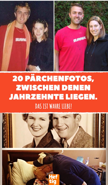 20 Pärchenfotos, zwischen denen Jahrzehnte liegen. #liebe ...