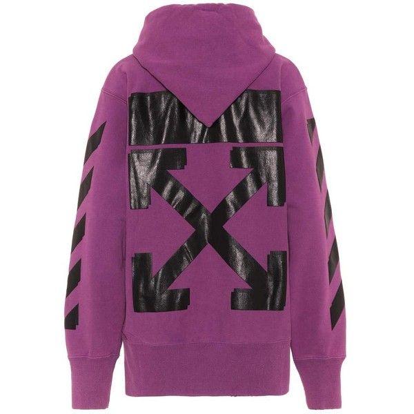 3fdeffadd153 Off-White X Champion Hoodie ($700) via Polyvore featuring purple ...