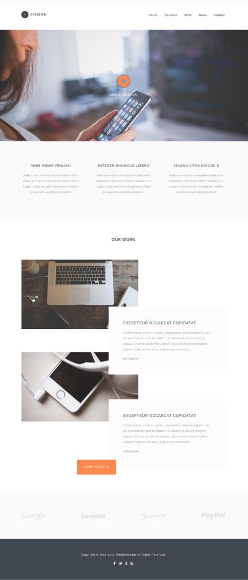 Creativs – Free Complete PSD & HTML5 Website Template | PS zasoby ...