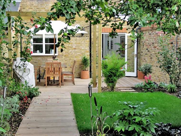Small front garden design google search back yards and for Medium back garden designs
