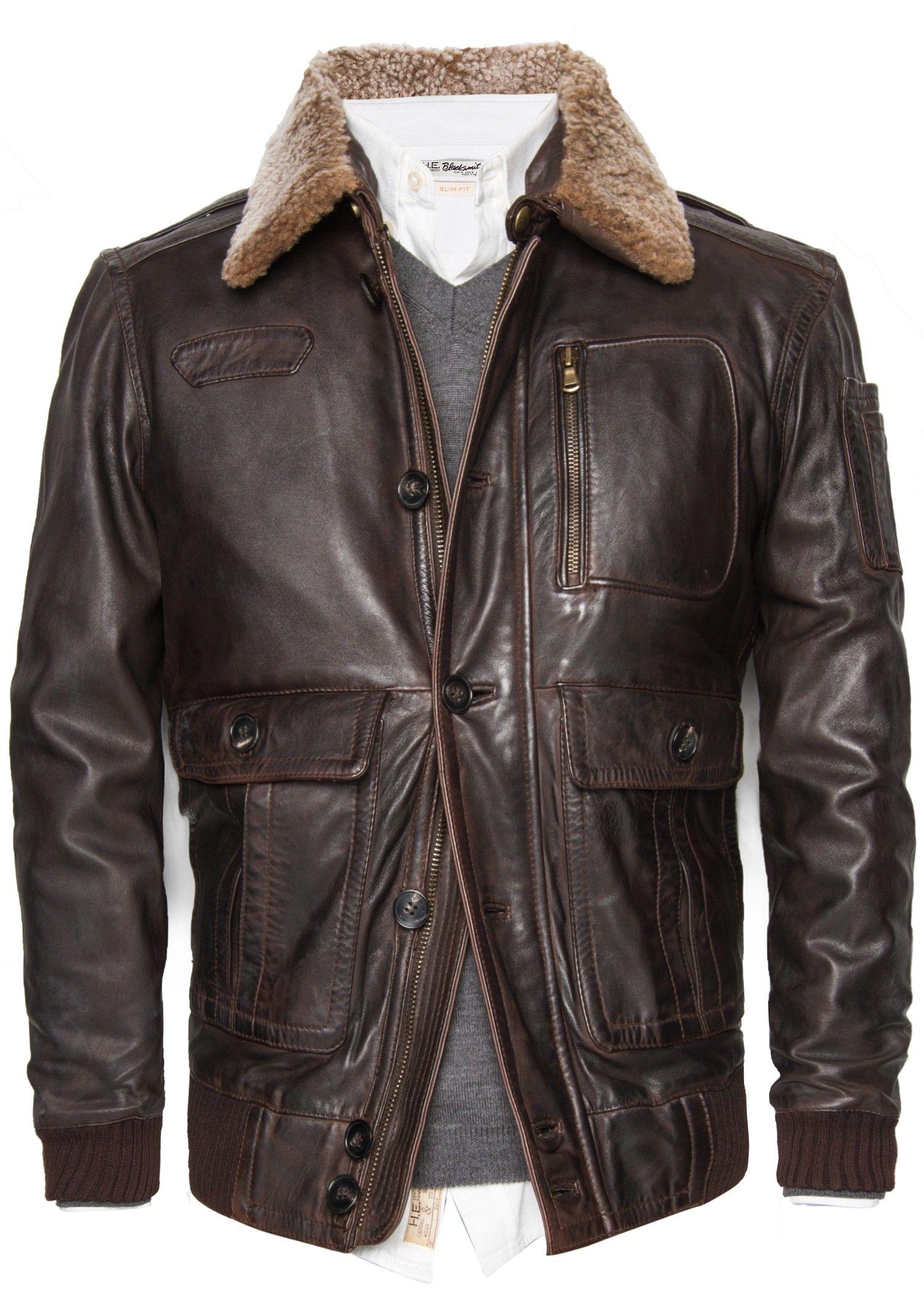 Aviator leather jacket Men | Mango Man United Kingdom