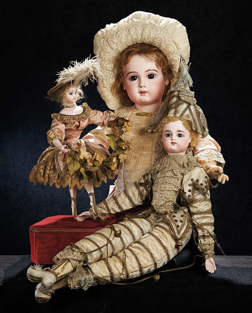 "Beautiful French Bisque Musical Automaton ""Valseuse"" by Roullet & Decamps. http://Theriaults.com"
