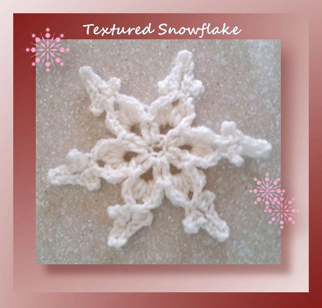 Textured Snowflake - free pattern at Crochet Memories | CROCHET ...