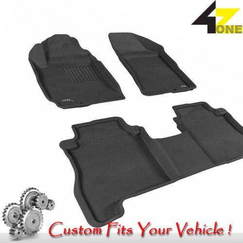 3d Fits 2007 2012 Hyundai Santa Fe G3ac18955 Black Waterproof Front And Rear Car Black Carpet Hyundai Santa Fe Fitness