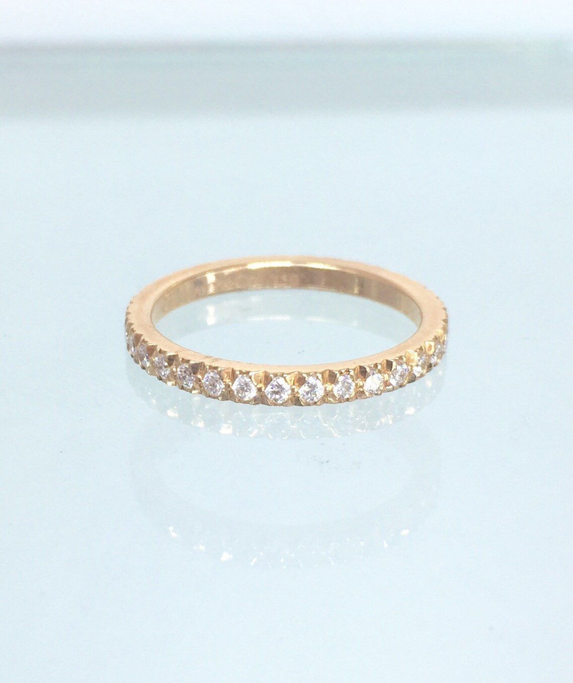 A personal favorite from my Etsy shop https://www.etsy.com/listing/225999035/tiffany-co-18k-rose-gold-diamond