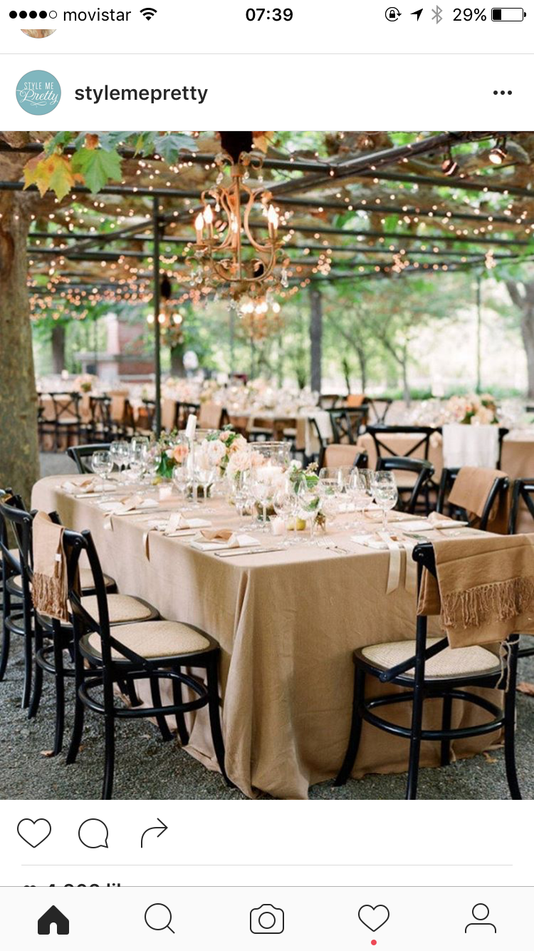 Garden wedding reception decor  Pin by kerry munro on Wedding  Pinterest  Wedding