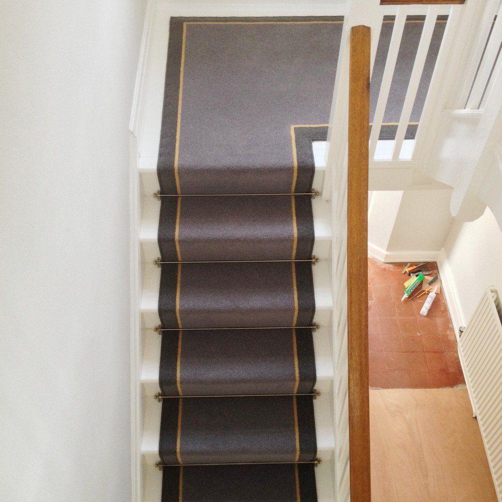 Best Brintons Carpets Bell Twist Flint Luxor Gold Smoke Stair 400 x 300