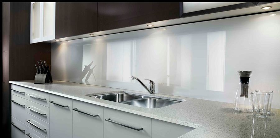 Arctic White Wall Panels Used In A Kitchen Backsplash For Modern Accent