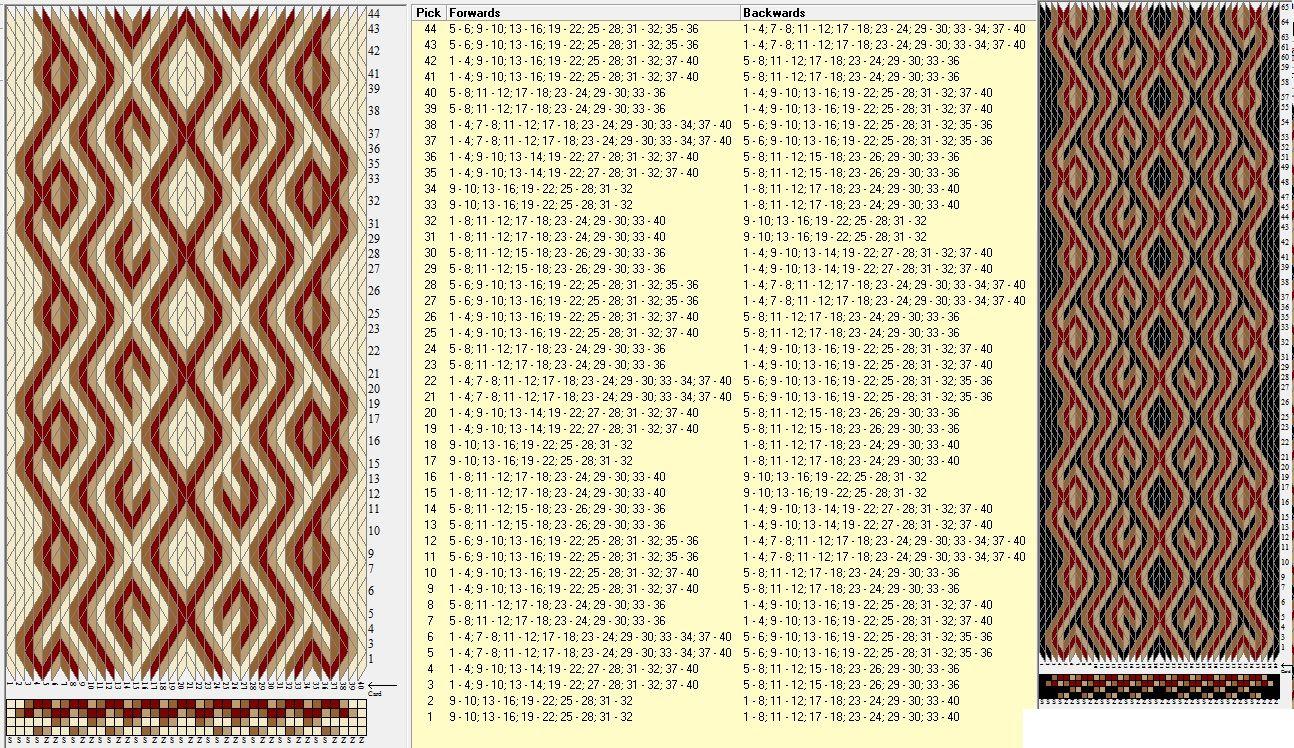40 tarjetas, 4 colores, repite cada 16 movimientos // sed_454 diseñado en GTT༺❁