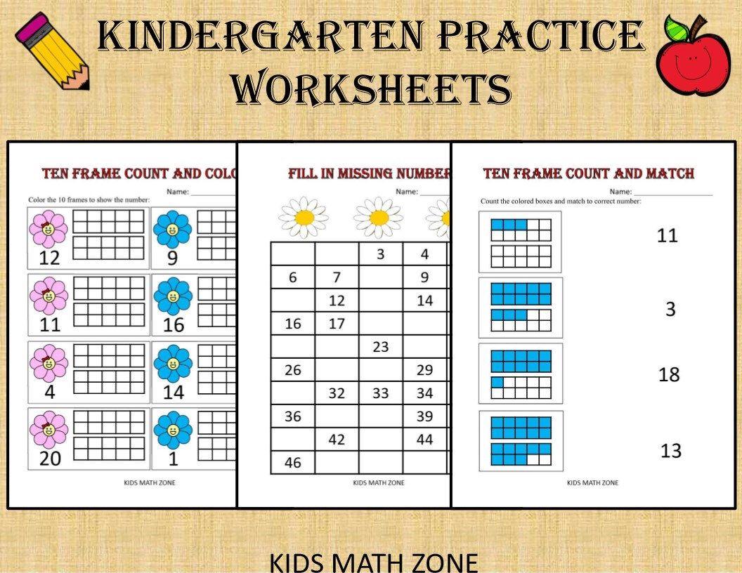 Kindergarten Practice Worksheets 50 Printable Worksheets Etsy In 2020 Kindergarten Math Kids Math Worksheets Kindergarten Worksheets [ 816 x 1056 Pixel ]
