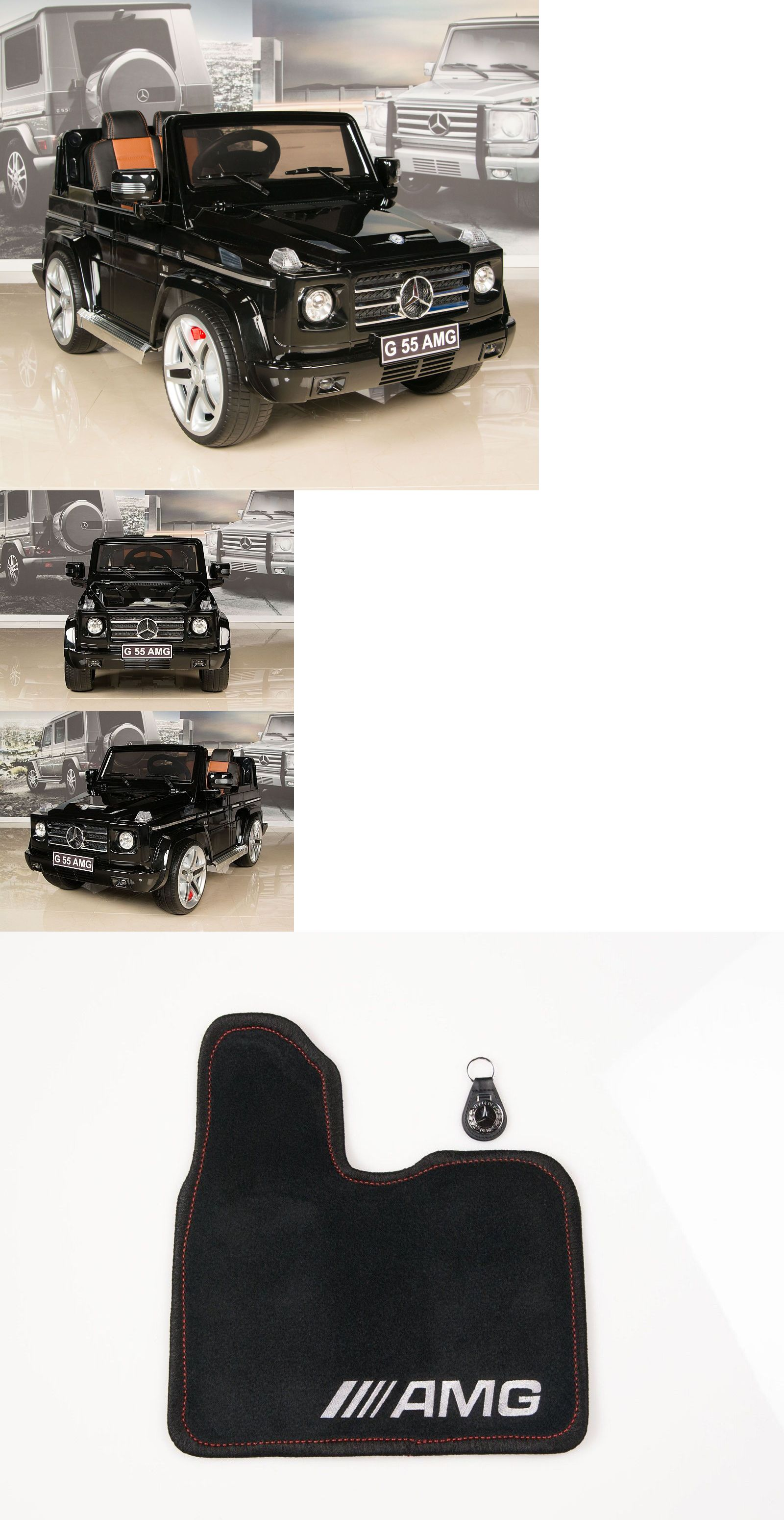 Battery Operated 19072 Black Mercedes G55 Amg 12v Kids Ride On Car