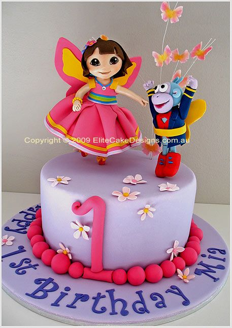 Cake Designs Dora The Explorer Birthday Cake Dora the Fairy