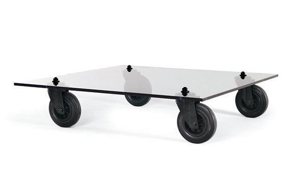 diy glass coffee table on wheels