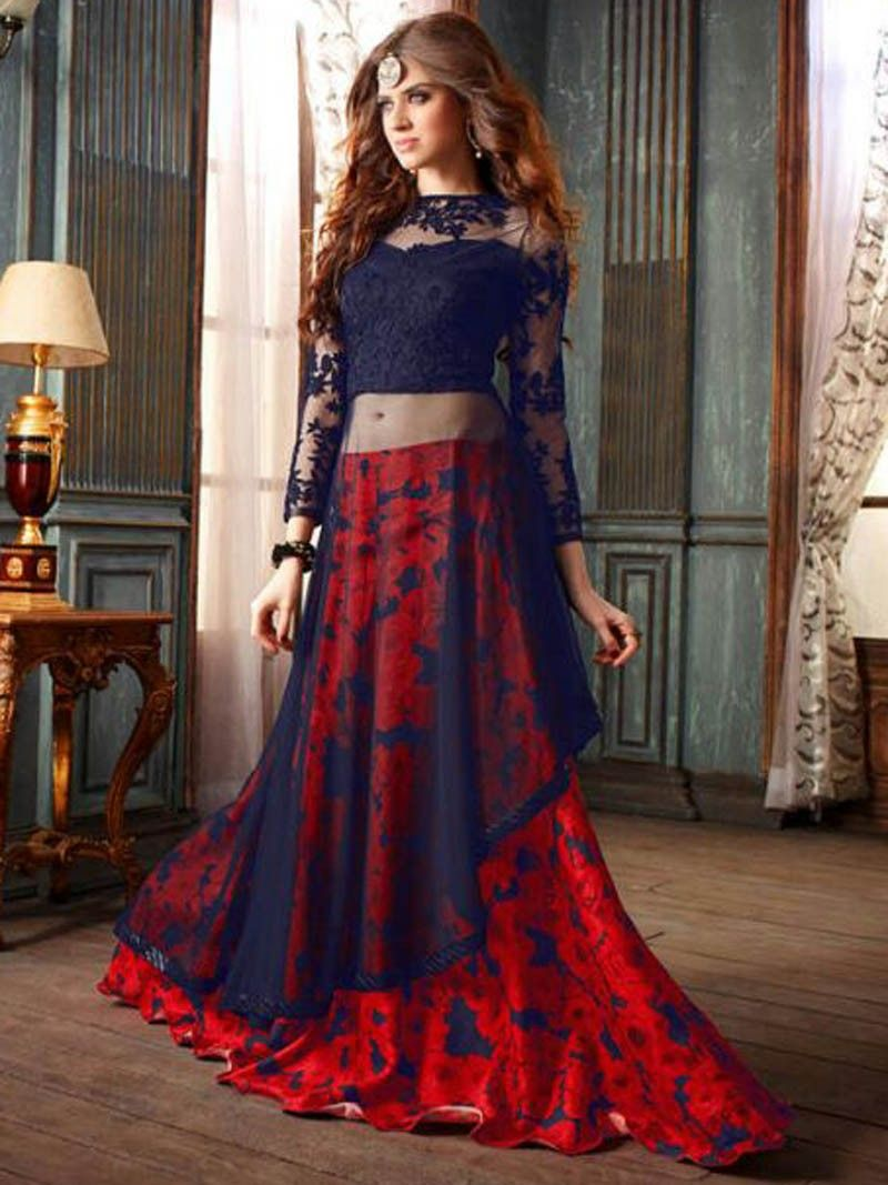 Red heavy bridal anarkali frock 7 suitanarkali in - Buy Red With Blue Color Net Designer Anarkali Salwar Suit This Is A Designer Anarkali Salwar Suit Top Crafted In Net Fabric Salwar Bottom Is Crafted In