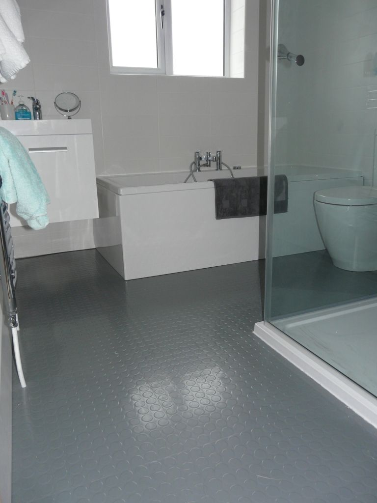 Rubber flooring bathroom - Grey Rubber Floor Mais