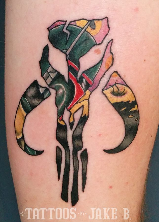 boba fett mandalorian crest wars tattoos by