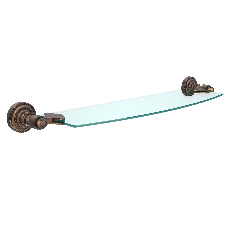 Allied Brass Classic Bathroom Glass Shelf (Venetian Bronze)
