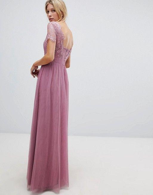 Little Mistress Lace Top Maxi Dress Wofo Bridesmaid