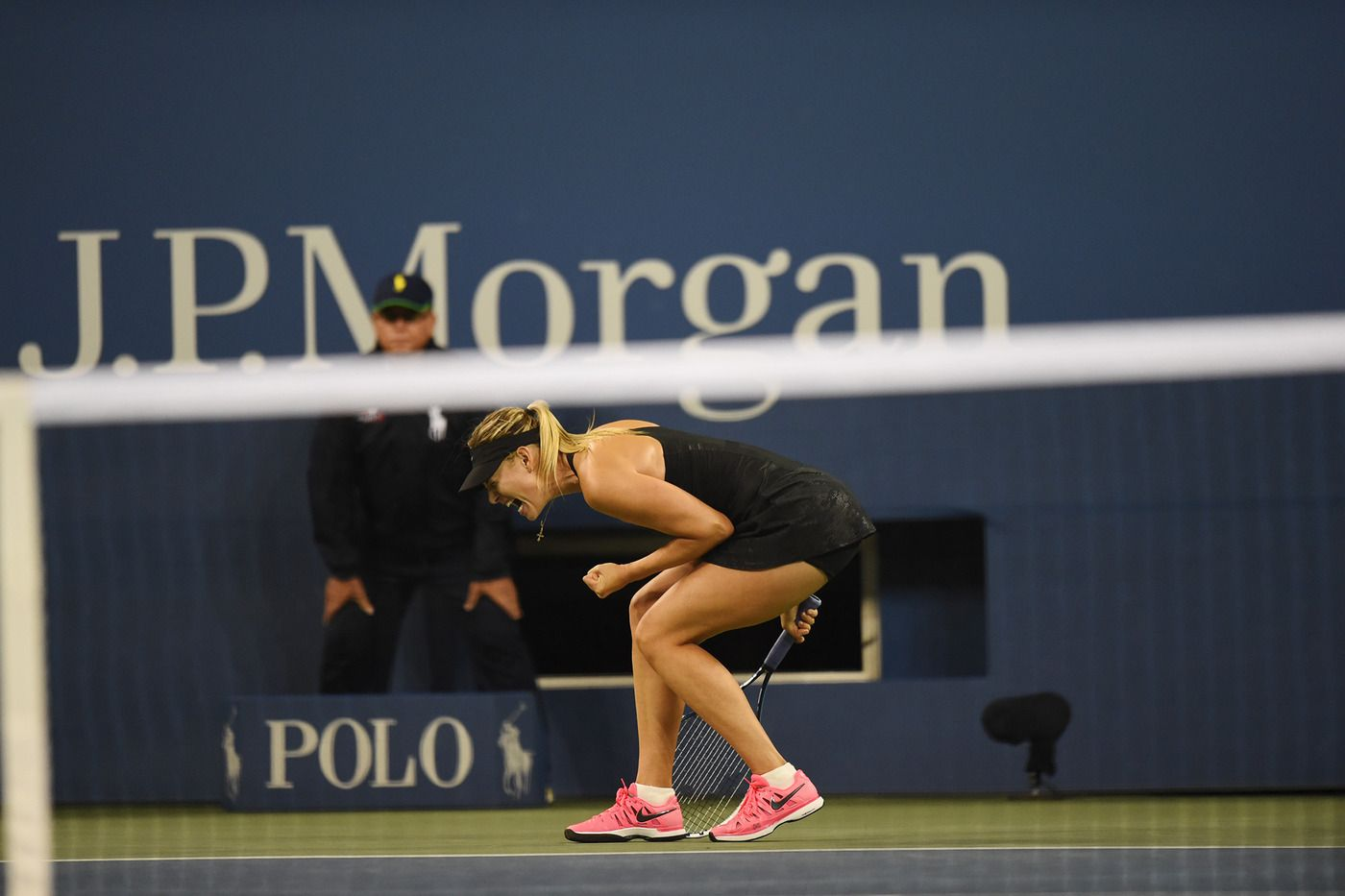 Maria Sharapova during a third-round match at  the 2014 US Open.  - Andrew Ong /usopen.org