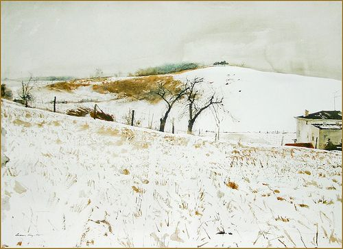 'Fence Line' (1967) by Andrew Wyeth   Flickr - Photo Sharing!
