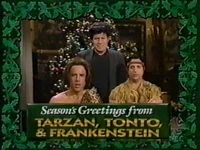 Seasons greetings from tarzan tonto and frankenstein christmas seasons greetings from tarzan tonto and frankenstein m4hsunfo