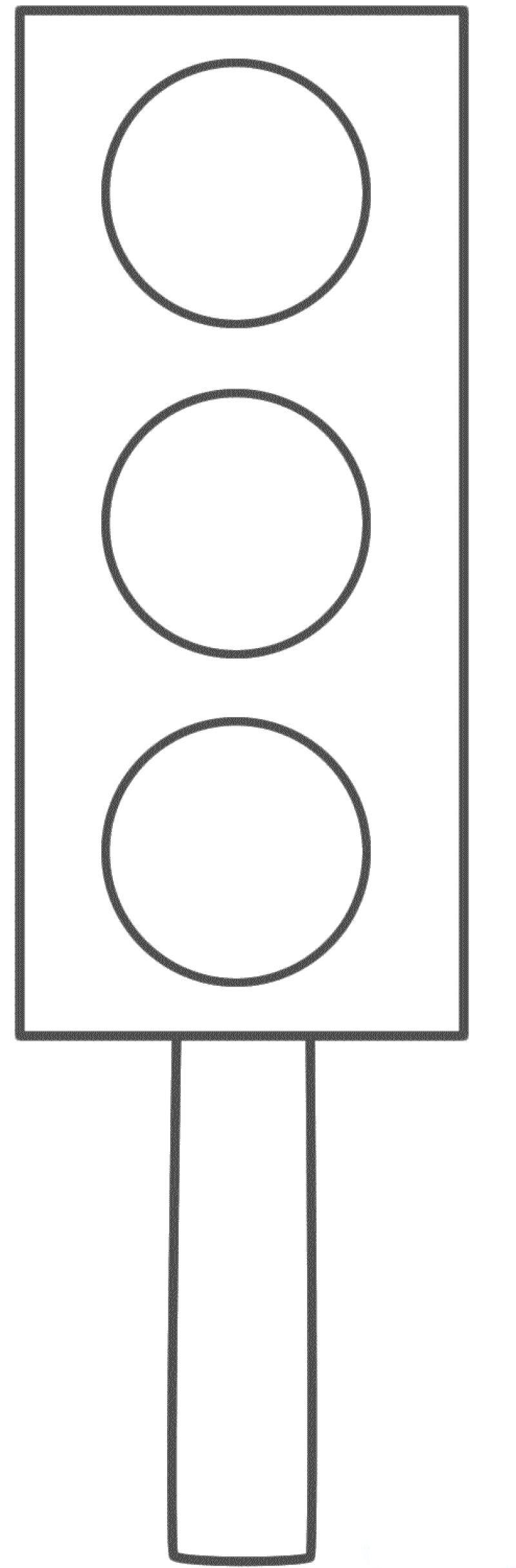 Traffic Light Craft With Pattern 2 Knutselen Thema Verkeer Stoplicht Vervoer Thema