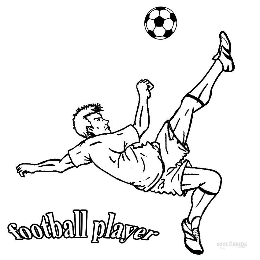 Football Player Coloring Pages Sports Coloring Pages Coloring