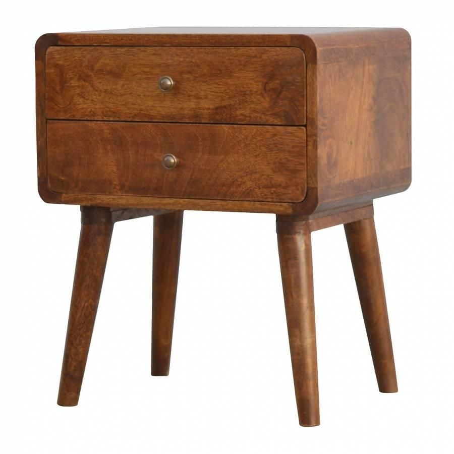 Roundy Bedside Table Wooden Bedside Table Bedside Table Scandinavian Wood Bedside Table