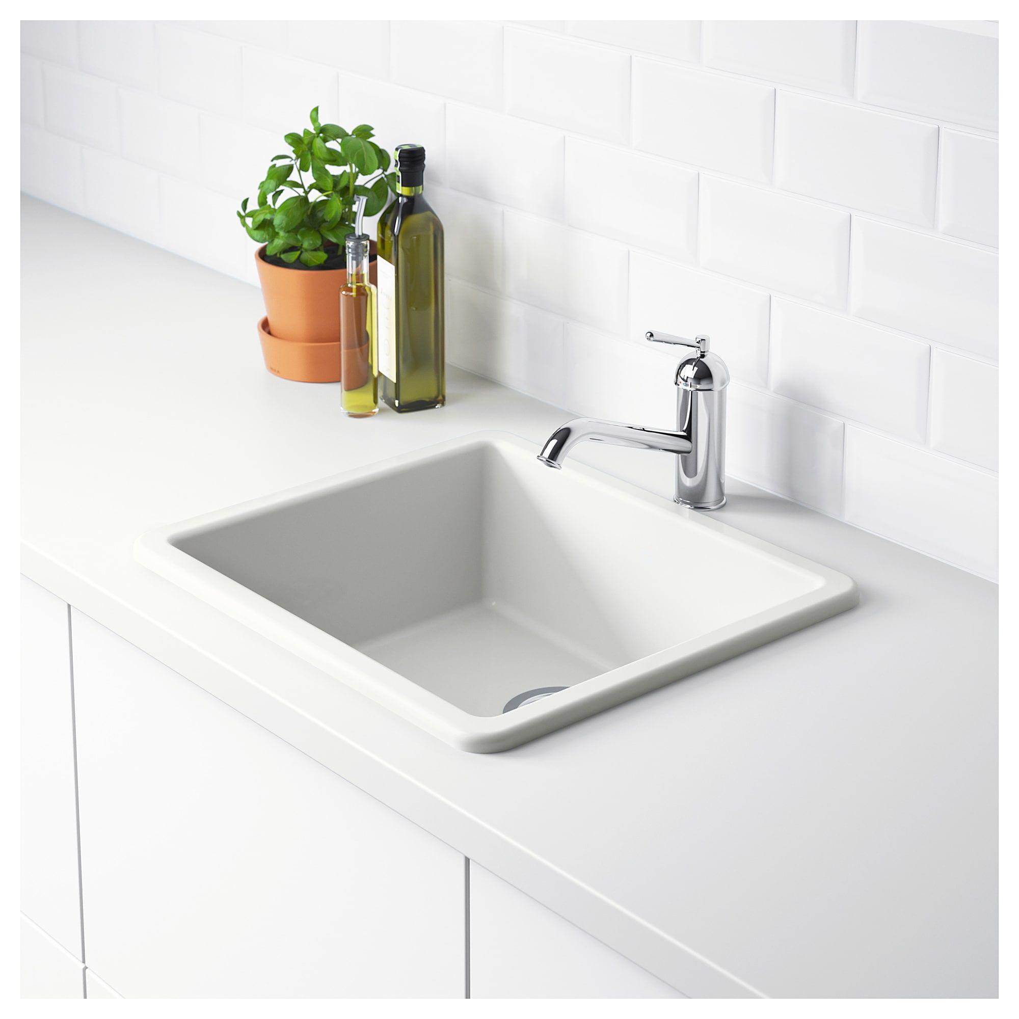 Havsen Sink White 21x19 Sink Inset Sink Double Bowl Sink