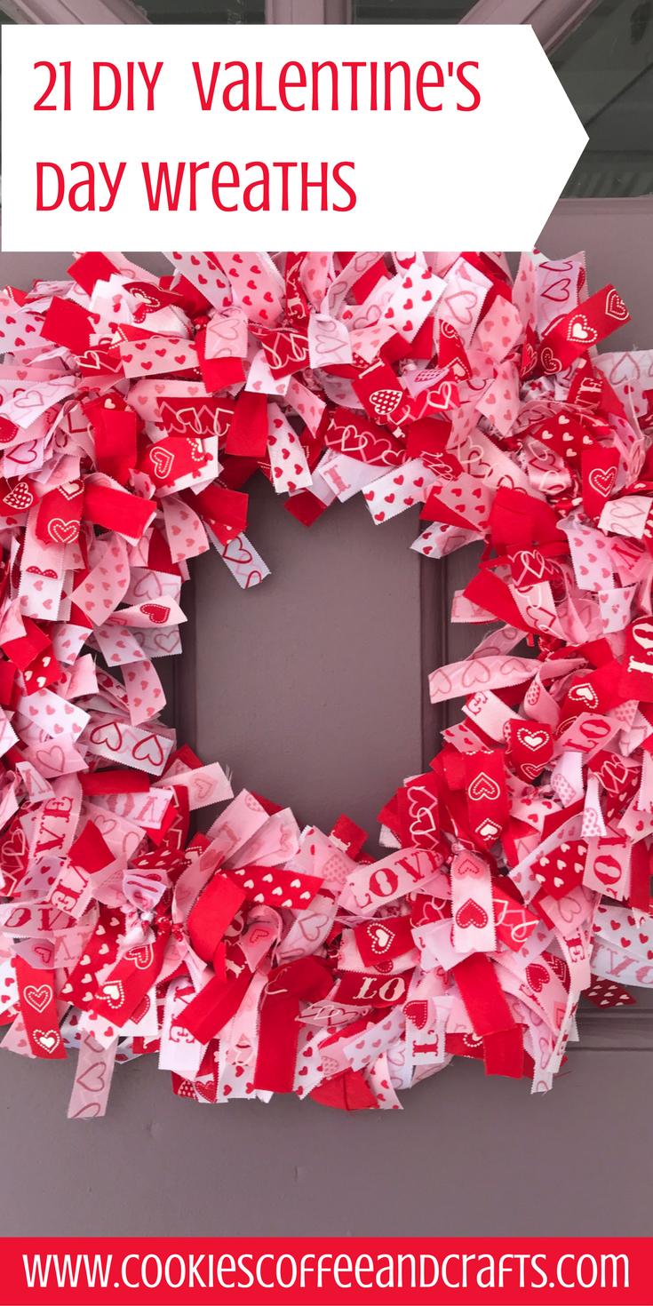 21 diy valentines day wreaths diy valentine wreaths and front 21 diy valentines day wreaths rubansaba