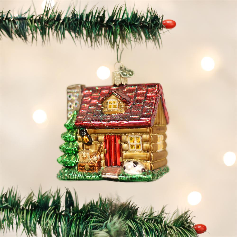 Lake Cabin Ornament Cowboy Christmas Old World Christmas