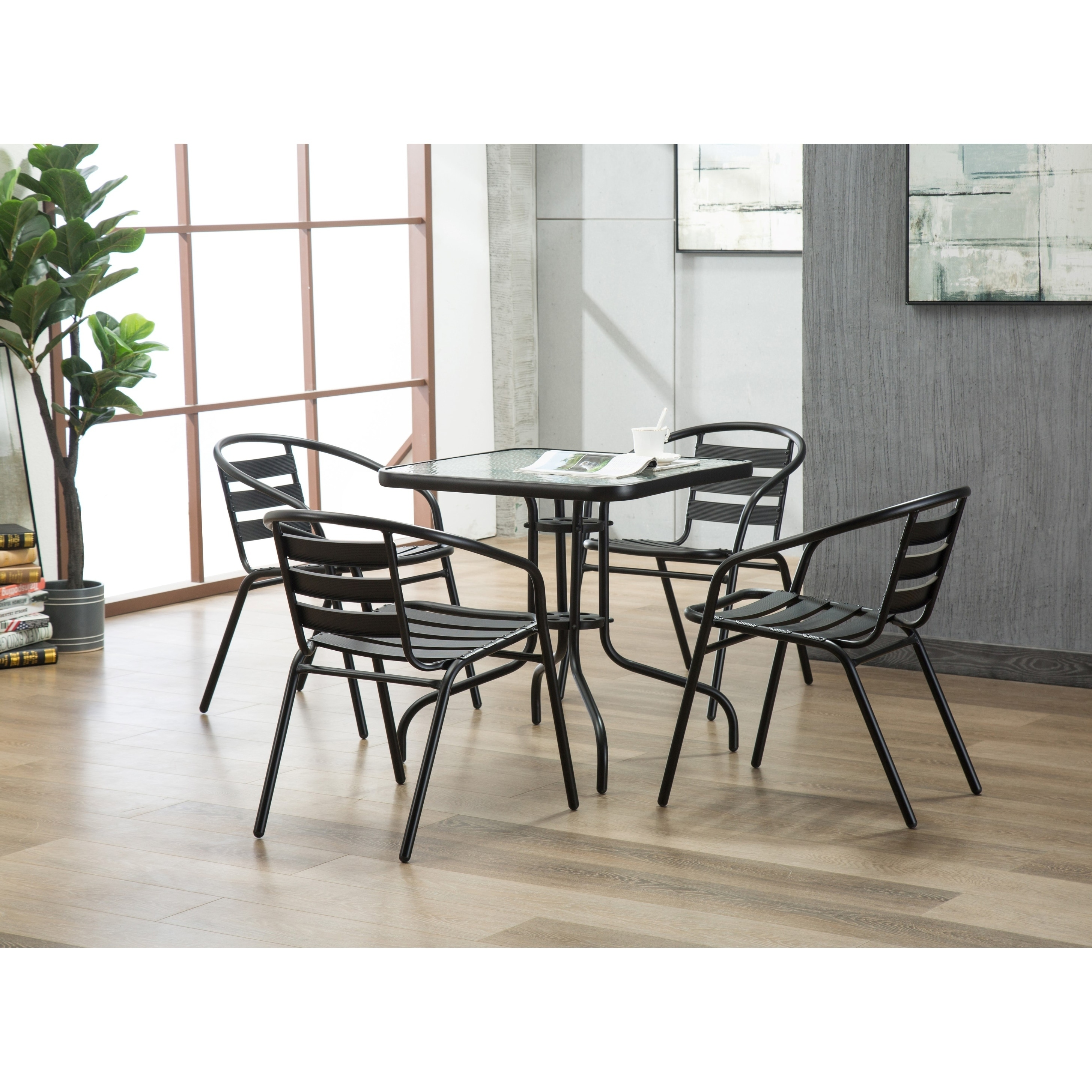 Magnificent Porthos Home Indoor Outdoor Metal Restaurant Stack Chair Set Short Links Chair Design For Home Short Linksinfo