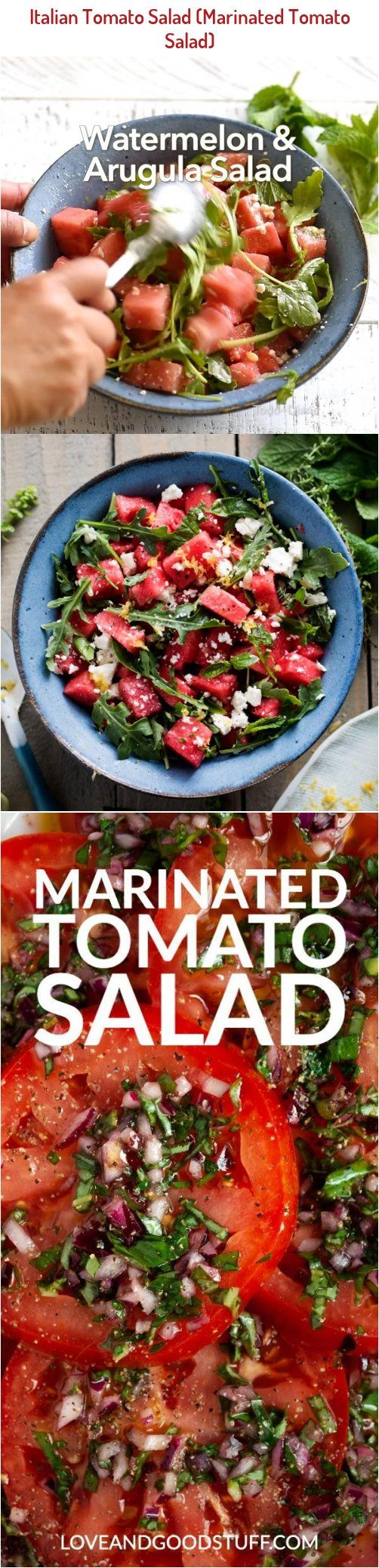 Perfectly Ripe Juicy Tomatoes Marinated In Olive Oil Red Wine Vinegar Basil And Garlic This Delicious In 2020 Marinated Tomatoes Italian Tomato Salad Salad Recipes