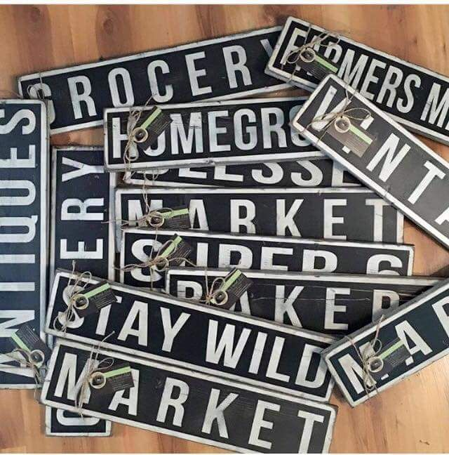Industrial Word Signs Handmade Home Decor Signs By The Painted Nest Magnificent Hand Painted Wood Signs Home Decor
