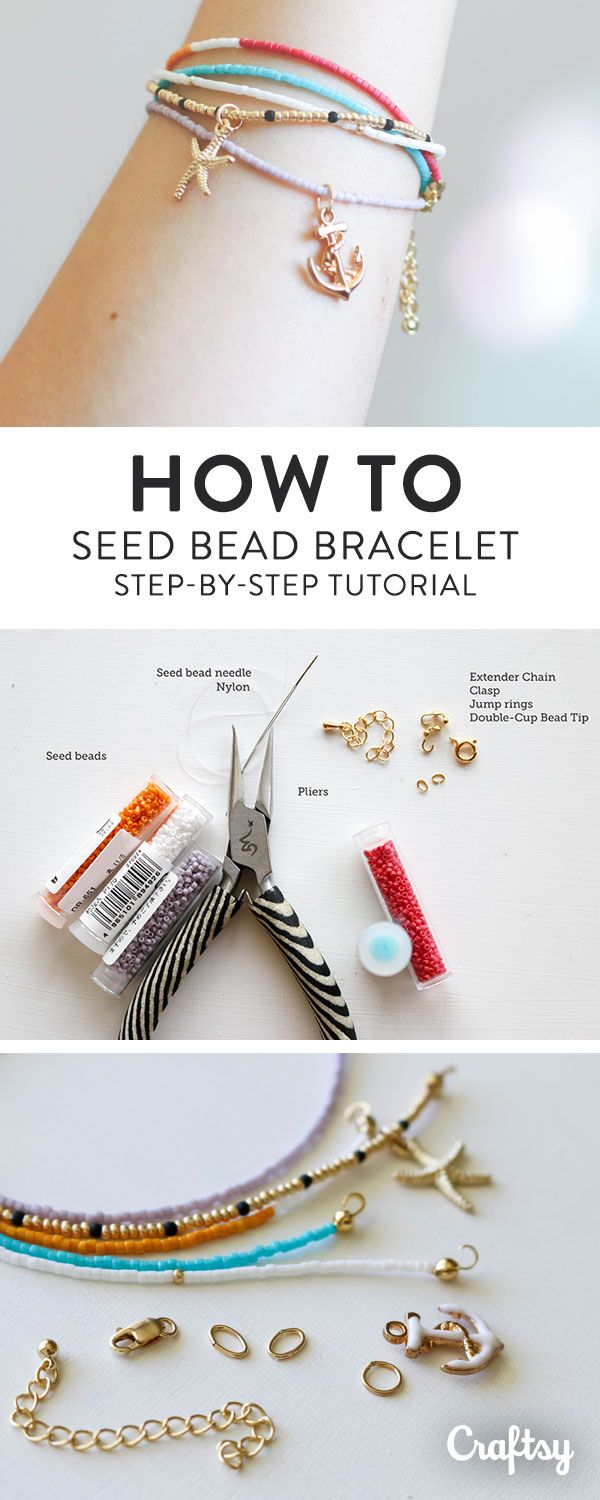 How to make seed bead bracelets free tutorial on craftsy seed