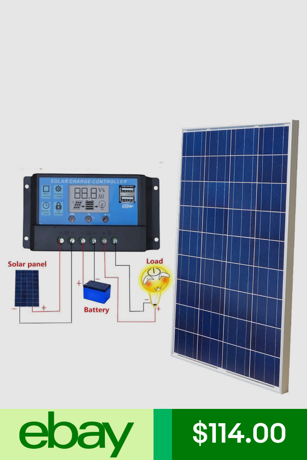 Eco Worthy Alternative Solar Energy Home Garden Ebay Solar Panel Battery Solar Panels Solar