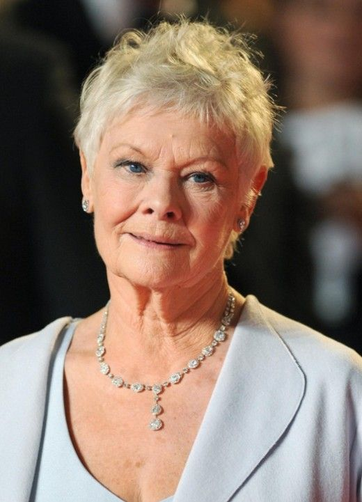 Hairstyles For Women Over 70 Delectable Short Pixie Cut For Mature Women Over 70  Judi Dench Hairstyles