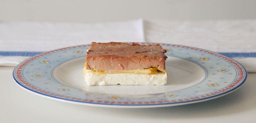 Milhojas de queso, manzana y foie - http://www.bezzia.com/milhojas-de-queso-manzana-y-foie/